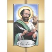 Santinho com Oração São Lucas