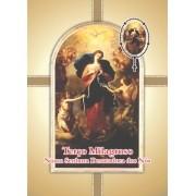 Santinho com Oração Terço Milagroso Nossa Senhora Desatadora dos Nós