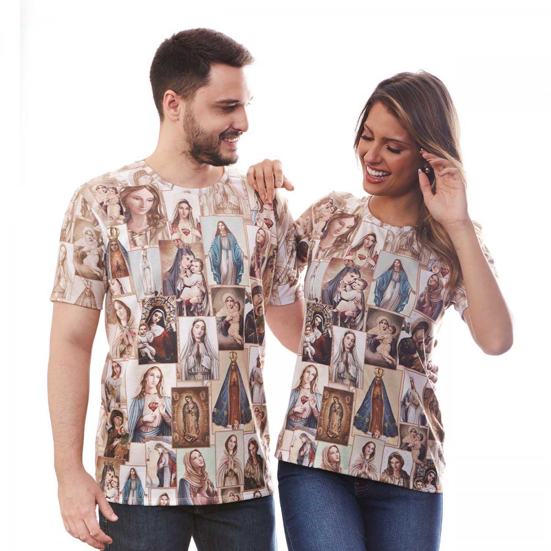 Baby Look Camiseta Nossa Senhora Devoções Marianas