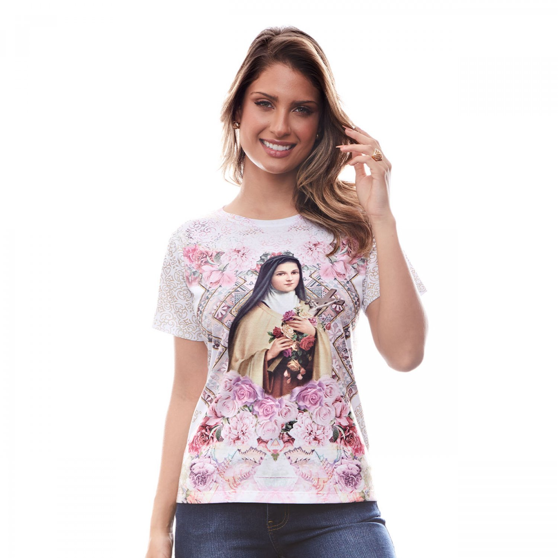Baby Look Camiseta Santa Teresinha