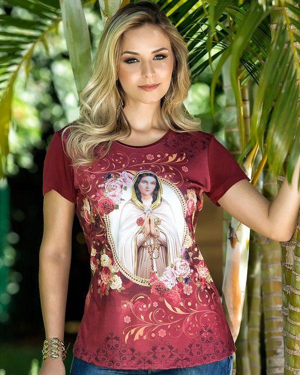 Blusa Nossa Senhora da Rosa Mística