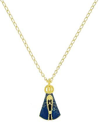 Gargantilha Nossa Senhora Aparecida Manto Azul