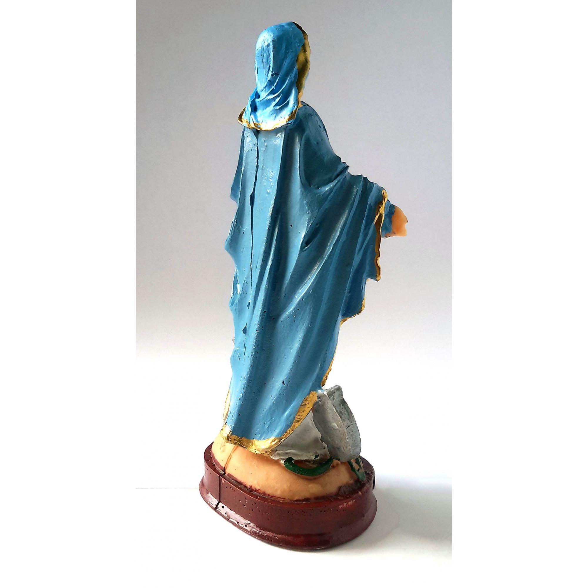 Imagem em resina Nossa Senhora das Graças Medalha Milagrosa