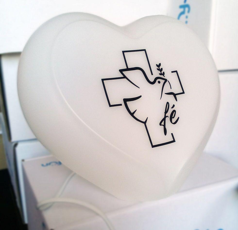 Luminária Abajur Coração