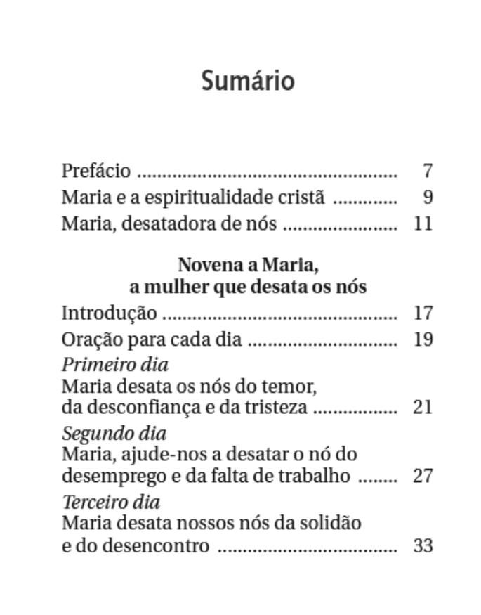 Novena Maria Desatadora dos Nós