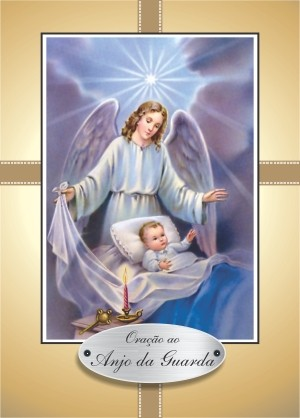 Santinho com Oração ao Anjo da Guarda