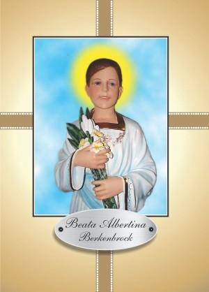 Santinho com Oração Beata Albertina Berkenbrock