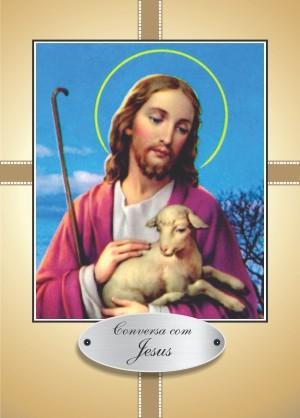 Santinho com Oração Conversa com Jesus II