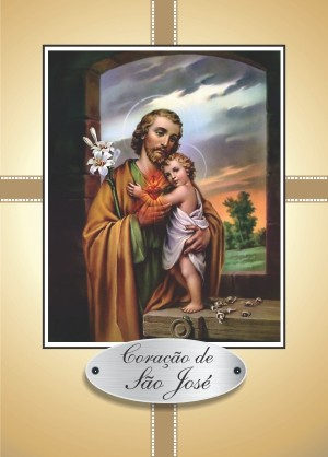 Santinho com Oração Coração de São José