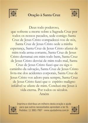 Santinho com Oração da Santa Cruz