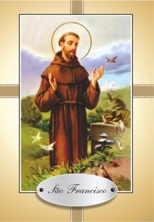 Santinho com Oração de São Francisco