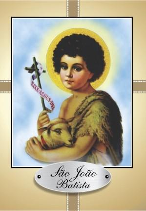 Santinho com Oração de São João