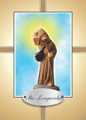 Santinho com Oração de São Longuinho
