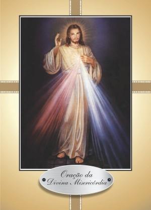 Santinho com Oração Divina Misericórdia