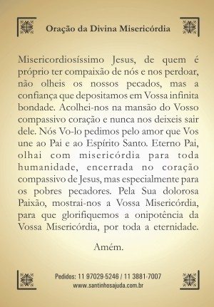 Oração Divina Misericórdia