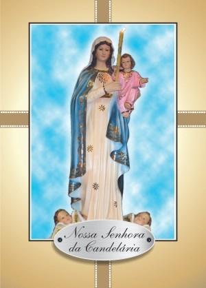 Santinho com Oração Nossa Senhora da Candelária