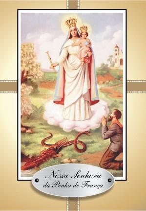 Santinho com Oração Nossa Senhora da Penha