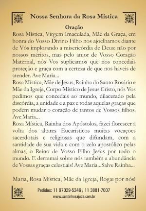 Oração Nossa Senhora da Rosa Mística