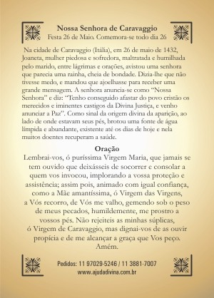 Oração Nossa Senhora de Caravaggio