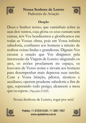 Santinho com Oração Nossa Senhora de Loreto