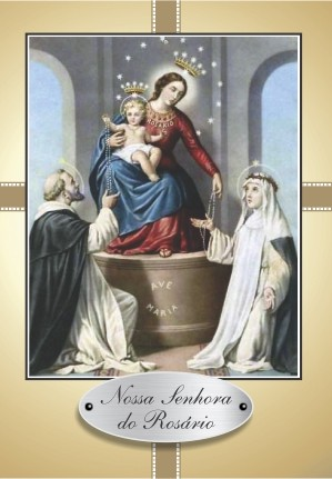 Santinho com Oração Nossa Senhora do Rosário