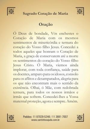 Oração Sagrado Coração de Maria