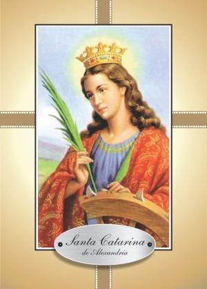 Santinho com Oração Santa Catarina de Alexandria