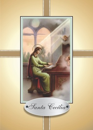 Santinho com Oração Santa Cecília