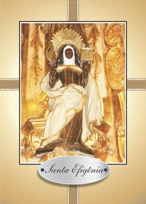 Santinho com Oração Santa Efigênia