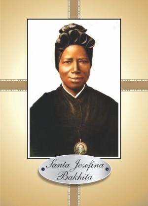 Santinho com Oração Santa Josefina Bakhita