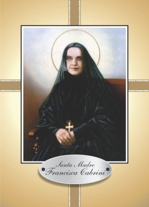 Santinho Oração Santa Francisca Xavier Cabrini