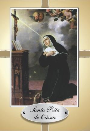 Santinho com Oração Santa Rita de Cássia