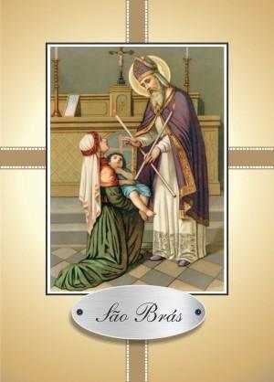 Santinho com Oração São Brás