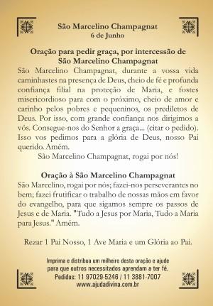 Santinho com Oração São Marcelino