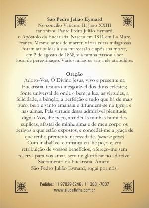 Santinho com Oração São Pedro Julião Eymard