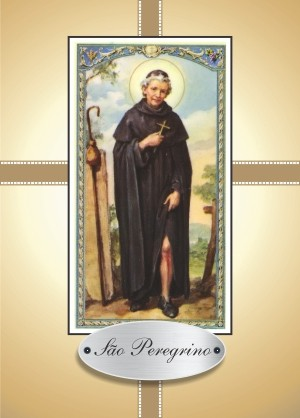 Santinho com Oração São Peregrino
