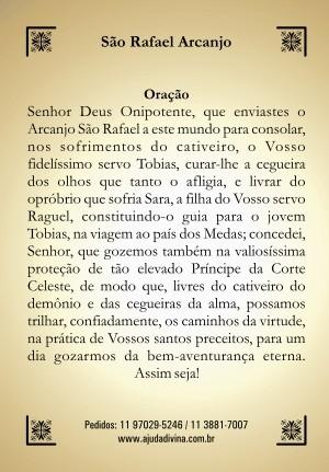 Santinho com Oração São Rafael Arcanjo