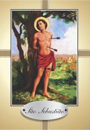 Santinho com Oração São Sebastião