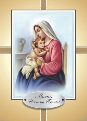 Santinhos com Oração Maria Passa na Frente