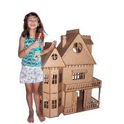 Casa de bonecas Escala Barbie Modelo Emily Natural - Darama