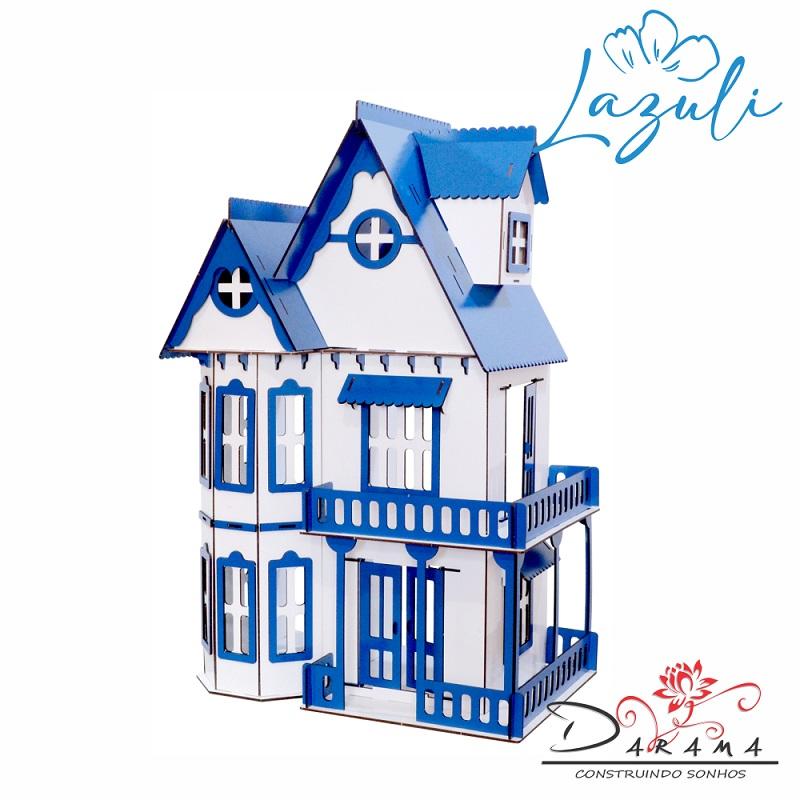 Casa Bonecas Escala Polly lol Modelo Mirian LAZULI - Darama