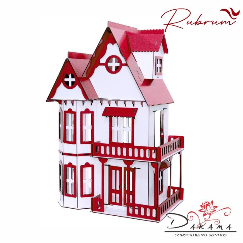 Casa Bonecas Escala Polly lol Modelo Mirian RUBRUM - Darama