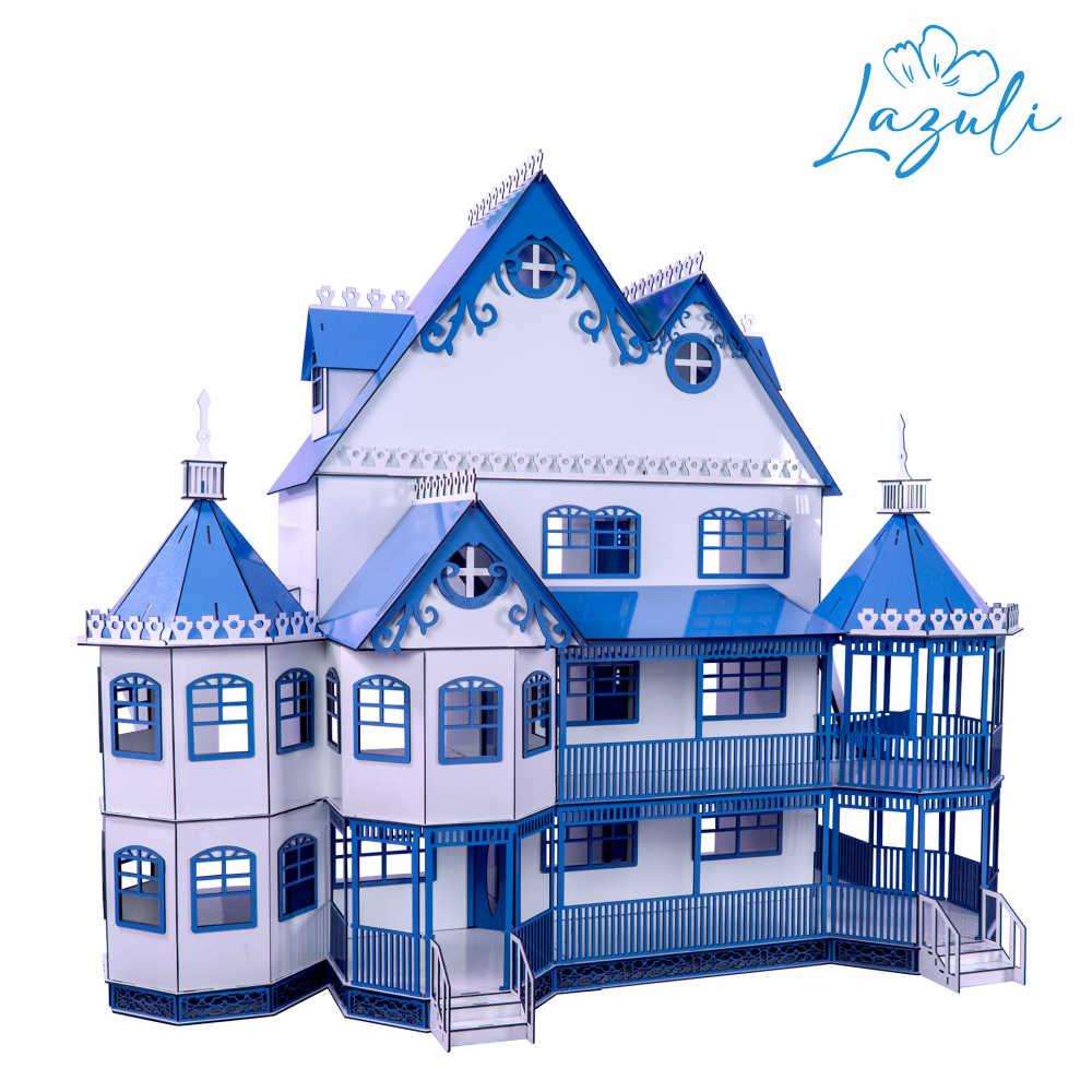 Casa de Boneca Escala Polly Mansão Ashley LAZULI - Darama