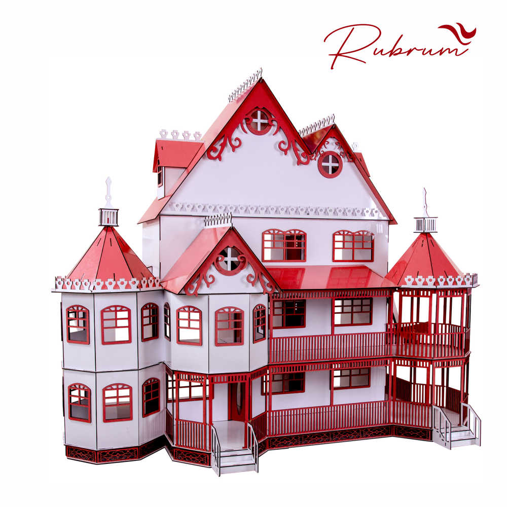 Casa de Boneca Escala Polly Mansão Ashley RUBRUM - Darama