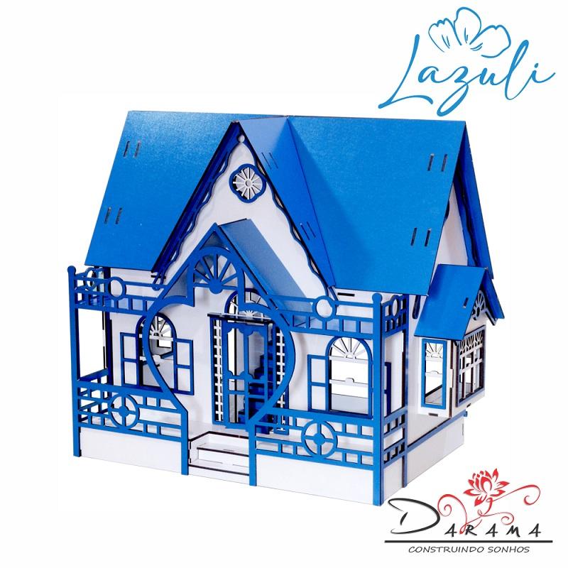 Casa de Boneca Escala Polly Modelo Megan LAZULI - Darama