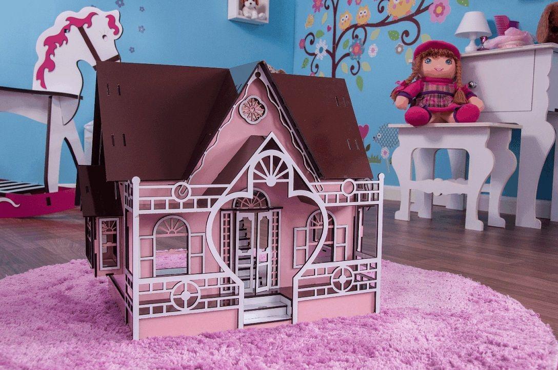 Casa de Boneca Escala Polly Modelo Megan Princesa - Darama
