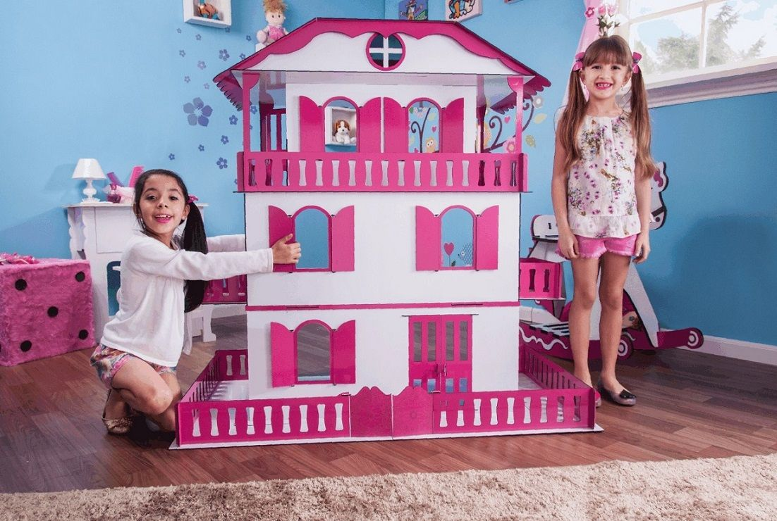 Casa de Bonecas Escala Barbie Estilo Suzan Sonhos - Darama