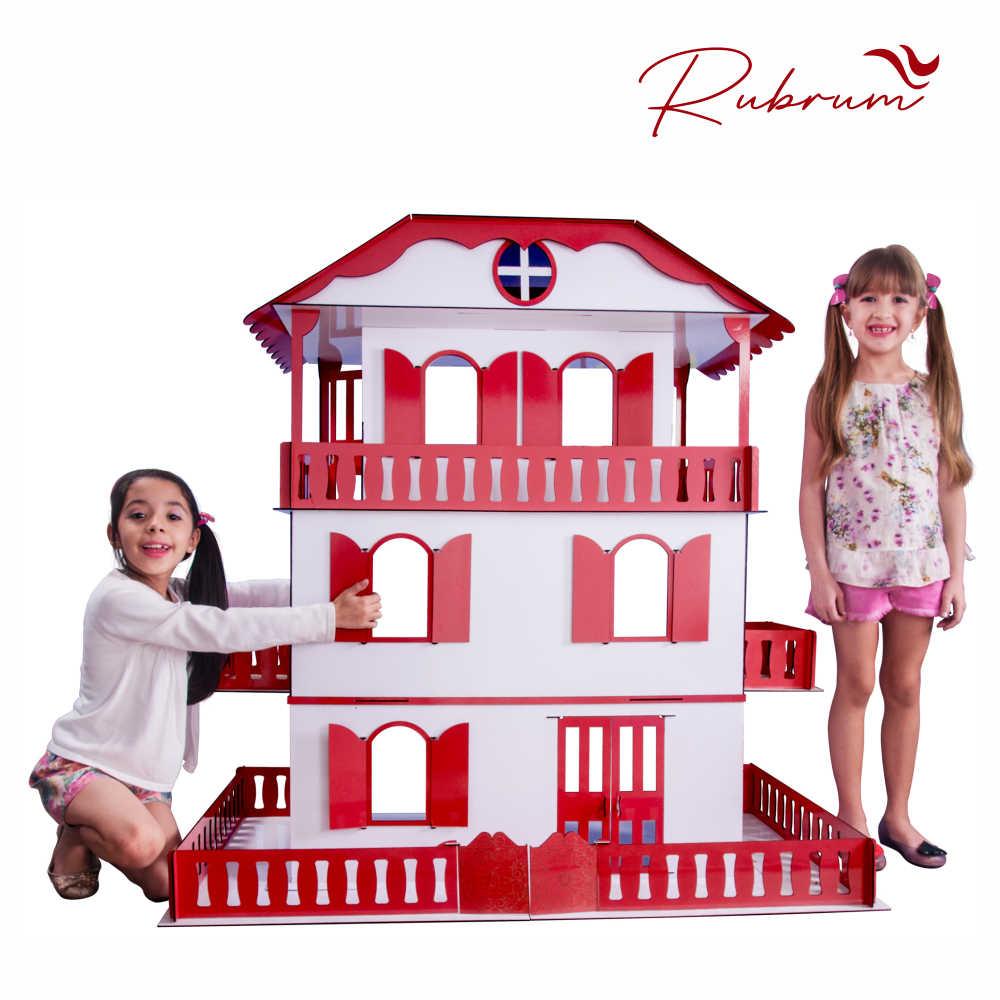 Casa de Bonecas Escala Barbie Mod Suzan RUBRUM - Darama