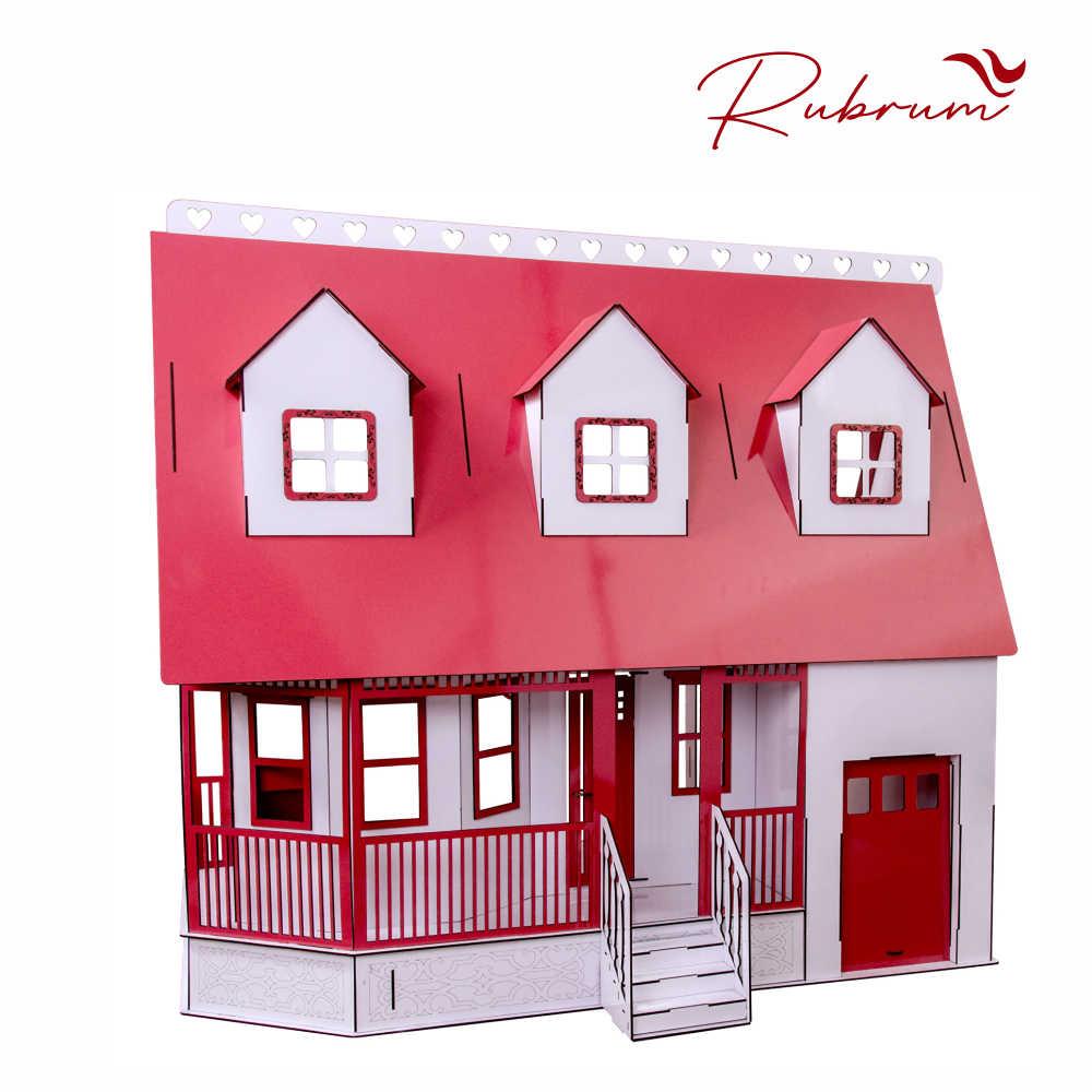 Casa de Bonecas Escala Barbie Mod Victoria RUBRUM - Darama