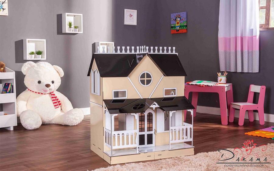 Casa de Bonecas Escala Barbie Modelo Lian Crem - Darama